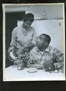 Original Feb 8 1962 Sonny Liston And Wife Boxing 8 X 10 Wire Photo