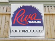 Vintage Yamaha Riva Scooter Double Sided Metal Sign