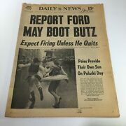 Ny Daily News10/4/76 Report Ford May Boot Butz Fran And Tom Paskiwitz Pulaski Day