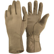 Pentagon Long Cuff Pilot Gloves Work Fire Resistant Leather Hands Cover Coyote