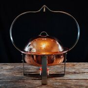 Copper 4 Quart Round Chafer Hammered Copper New Eco Friendly W Handle