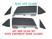 1967 1968 Ford Mustang Convertible Glass Vents Doors In Frames Quarter Set Grey