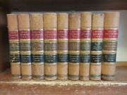 Lot Of 9 Spanish-american War Leather Books Reports Documents Department Senate
