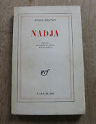 Nadja By Andre Breton - Pb 1963 1st Printing Gallimard French - Surrealism -nf