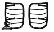 Black Horse Fits Tail Light Guards 1996-2002 Toyota 4runner Steel