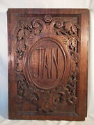 Large Hand Carved Wood Portfolio Cover Jan By Paula Collier 1934 -15x22