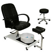 Pedicure Unit Station Hydraulic Chair And Massage Foot Spa Beauty Salon Equipment