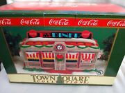 Coca Cola Coke Tick Tock Diner Lighted Town Square Collection Christmas Village