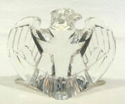Steuben Signed Glass 8496 Eagle 1984 By Designer Loyd Adkins Mint Condition
