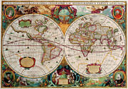 Gift Home Decor Wall Art Canvas Print Painting Antique Maps Of The World Picture