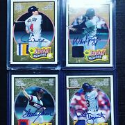 2005 Ud Baseball Heroes 4 Card Lotboggs Yount Seaver Molitor Gu Patch + Auto