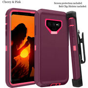 Galaxy Note 9 Defender Case With Screen Protector Fits Otterbox Multiple Color
