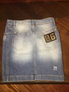 Dolce And Gabbana Couture Vintage Runway Denim Skirt Must Have Classic Piece