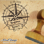 Wedding Stamp, Rubber Stamp Customize, Custom Stamp, Wind Rose, Compass Stamps