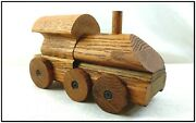 Vtg Advertising Toy Train L.j. Smith Stair Systems Paperweight From Wood Parts