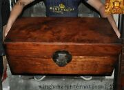 Huge Rare China Dynasty Huanghuali Wood Ghost Eye Hand-carved Storage Box Boxes