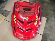 Polaris Snowmobile Xc600 Indy Hood Cowling Red With Decals