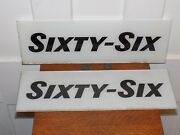 Vintage Pair Of Nos Andldquosixty-sixandrdquo Gas Station Pump Glass Signs