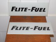 """Vintage Pair Of Nos """"flite-fuel"""" Gas Station Pump Glass Signs"""