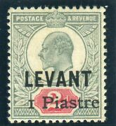British Levant-1906 1pi On 2d Grey Green And Carmine. Superb Unmounted Mint Cert