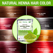 Pure Natural Henna Hair Color / Dye With Free Hair Brush, Gloves,shower Cap