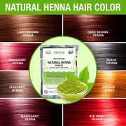 Organic Natural Henna Hair Color / Dye With Free Hair Gloves , Shower Cap