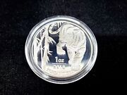 2018 Korean Tiger 1 Oz .999 Silver Coin Proof Limited Mintage Capsule