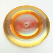 Steuben Frederick Carder Gold Aurene And Calcite 8.5 Plate