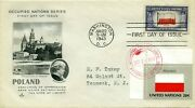First Day Cover 1943 Overrun Nations Flags Poland The World War Ii Value 43