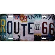 Route 66 Logo State License Plate Usa Made