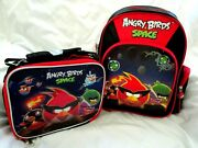 Angry Birds Space School Backpack 12 With Matching Angry Birds 9.5 Lunch Box