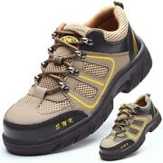 Mens Steel Toe Prevent Puncture Safety Shoes Casual Climbing Sneakers Work Boots