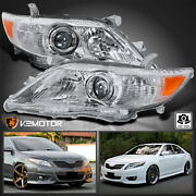 For 2010-2011 Toyota Camry Clear Projector Headlights Left+right Replacement