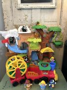 Fisher Price Little People Zoo Talkers Animal Sounds Jungle Playset Keeper Train