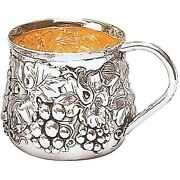 Galmer Silver Company Sterling Silver Baby Cup With Grape Motif