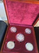 Russia Set Of 5 Silver Commemorative Coins Medals Moscow Kremlin 200 Grams Tsar