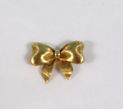 And Co Rare 18k 750 Bow Yellow Gold Brooch Lapel Pin Vintage Satin Finish