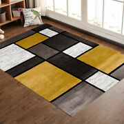 Contemporary Modern Boxes Design Area Rug Indoor Living Dining Room Floor Mat