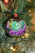Zhostovo Hand Painted Russian Xmas Tree Bauble Ball Wooden Christmas Gift