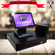 Firstpos 12in Touch Screen Pos Cash Register Till System Hair And Beauty Salon