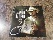 Jason Aldean Signed 9 Cd Cover With Unopened Cd