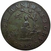 1795 Great Britain Middlesex 1/2 Penny Lace Manufactory Merchant Token Dandh 389