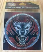 Liquid Skin Chrome Trailer Hitch Cover With Wolf Design