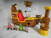 Disney Jake And The Neverland Pirates Large Ship With Figures Mt-7231
