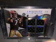 Ben Roethlisberger Exquisite Auto Jersey Card Pittsburgh Steelers Sn 1 Of 4
