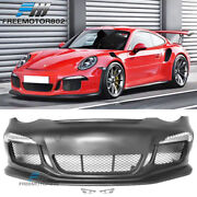Fits 05-12 Carrera 911 997 To 991 Gt3 Rs Style Front Bumper And Drl And Side Marker