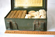 Bell System First Aid Kit Vintage Telephone Linesman's Metal Box W Some Contents