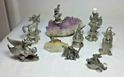 Lot Spoontiques Pewter Wizard Castle Dragon Amethyst Crystal Miniature Figurine