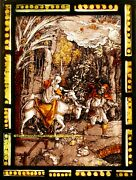 19th Century Leaded Coloured Stained Glass Panel - We Ship Worldwide