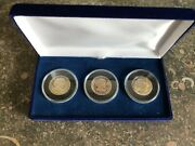 1979 1980 1981 Proof Sba Susan B Anthony Dollars 3 Coin Set Gem Proof In Case